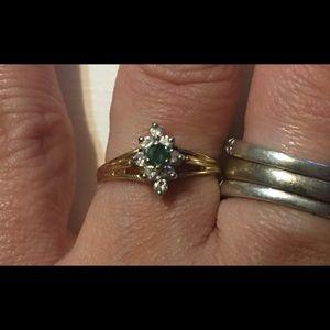 Women Emerald Diamond 14kt Yellow Gold,